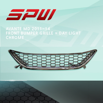 SPW Avante MD 2011~14 Front Bumper Grill+Day Light Chrome